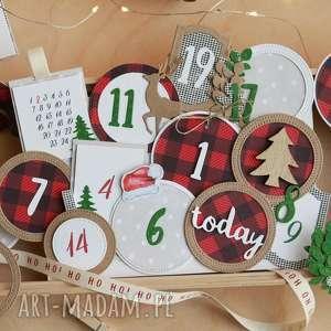 dekoracje etykietki do kalendarza adwentowego, adwent, adwentowy, kalendarz