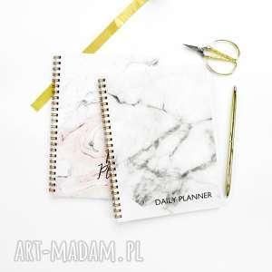 zestaw 2 planerów dziennych, marmurowe notesy, zestaw, notes, planer, dzienny, marmur