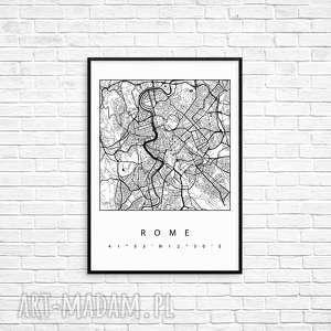 Prezent Grafika RZYM, miasto, rama, mapa