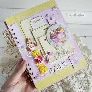 przepiśnik z babeczkami, #728, kulinarny, notatnik, książka kucharska, kuchnia
