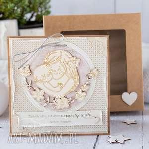 ręcznie wykonane kartki kartka z okazji narodzin, chrztu świętego. Gratulacje dla