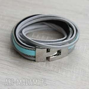 bransoletki niebieska bransoletka, bransoleta, zwijana, podwójna, rzemyki, owijana