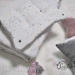 pokoik dziecka muślinowy komplet do łóżeczka gwiezdny pył chwosty, muślin