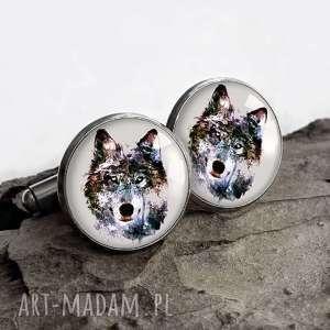 SPINKI Z WILKAMI - ,wilk,zwierzę,mankietów,koszuli,wilkiem,prezent,