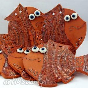 ceramika złota rybka, ceramika, handmase, prezent, dekoracja dom