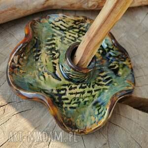 ceramika talerzyk do palo santo c258, santo, podstawka