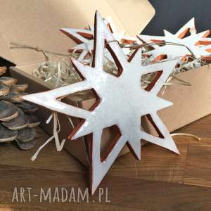prezent świąteczny Ceramiczne gwiazdy na choinkę, święta, choinka, prezent,