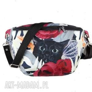 nerka xxl kot w kwiatach - ,nerkazkotem,kwiaty,saszetka,kotek,cat,zapętlonanitka,