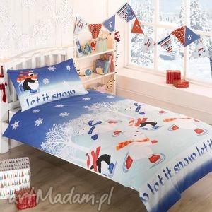 handmade pomysły na prezenty pod choinkę pościel świąteczna - let it snow 135x200cm (1