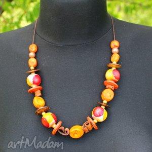 hand-made korale pomarańczowe - koral bambusowy