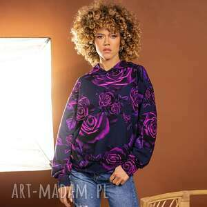 wyjątkowy prezent, bluza magic rose, bluza, z kapturem, kolorowa