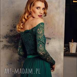 handmade sukienki maxi sukienka z szyfonową spódnicą rozm 34 -42