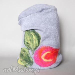 ręcznie wykonane czapki czesanką filcowane wełniane