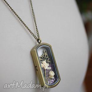 klucz do ogrodu brązowy łańcuszek - medalion, klucz, brąz, naszyjnik