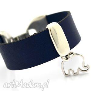 handmade bransoletka skóra joyee magnifico elephantos blue