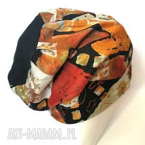 czapka materiałowa wzorzysta wiosna jesień - czapka, wzory, jesien, wiosna, sport