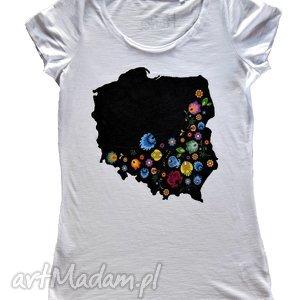 świąteczny prezent, t-shirt damski plishka mapa, tshirt, koszulkafolk, mapafolk