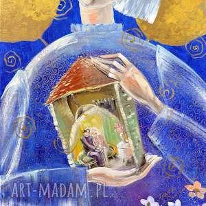 być szczęśliwym w domu to najważniejszy warunek dobrego życia, anioł, dom