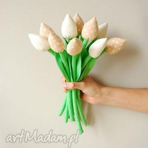 hand-made dekoracje bukiet bawełnianych tulipanów