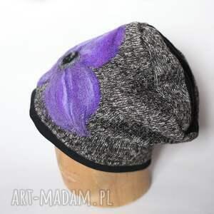 czesanką filcowane czapki wełniane k1 - czapka