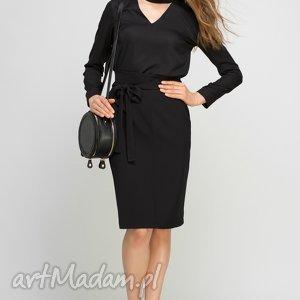 bluzka, blu132 czarny, choker, czarna, elegancka, biuro, praca, zwiewna bluzki
