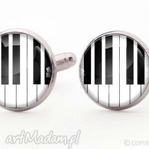 pianino 0905 - spinki do mankietów - pianista, fortepian, pianino, muzyczne, spinki