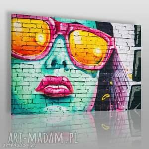 fotoobraz na płótnie - graffiti kobieta 120x80 cm 906001, kobieta, streetart