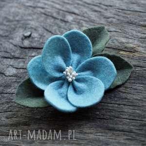hand-made ozdoby do włosów spinka kwiatek jesienny
