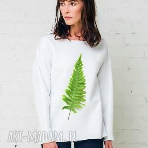 fern oversize bluza, oversize, biała, moda, casual, bawełna ubrania