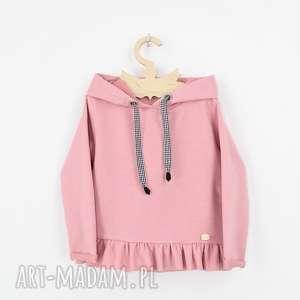 handmade ubranka bluza dresowa z falbanka i kapturem
