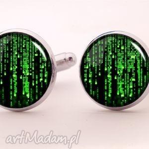 Matrix - Spinki do mankietów, matrix, kod, filmowe, spinki, męskie