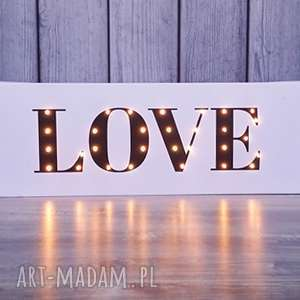 Prezent ŚWIECĄCY NAPIS LOVE prezent dekoracja dla dziecka ślub, obraz, love, świecący