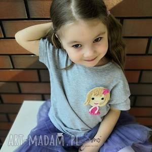 koszulka dla dziewczynki z wymienną aplikacją 2 w 1, koszulka, bluzka, ubranko