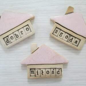 ręcznie wykonane magnesy zestaw 3 magnesów dobro miłość i zgoda