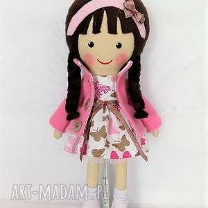 Prezent MALOWANA LALA ANNA W MOTYLKACH, lalka, zabawka, przytulanka, niespodzianka,
