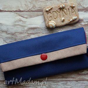 portfele portfelik , portfel, prezent, styl, marynarski, kotwice