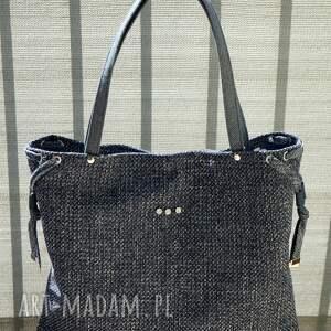worek na ramię - granatowa klasyka, torba, worek, shopperka, prezent, maroko