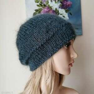 handmade czapki antracyt = klasyczna czapka