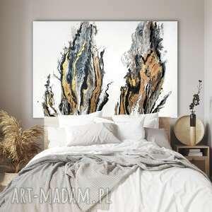 Duży obraz ręcznie malowany na płótnie, 150x100 cm -pustynna
