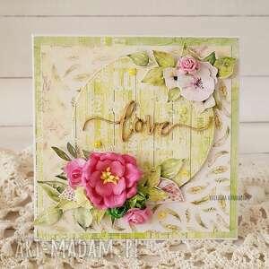 Love - energetyczna kartka w pudełku, 593 scrapbooking kartki