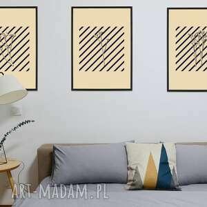 plakaty zestaw 3 printów a3 - the shadow of flower, grafika drukowana, plakat
