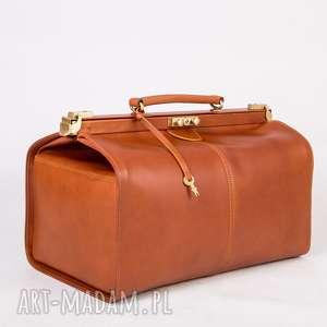 Skórzany Kufer podróżny/ Torba lekarska duża, kufer, skórzana-torba, lekarka, skóra,