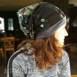czapka orientalna etno boho szyta patchworkowo wiosenna, czapka, etno