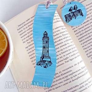 latarnia morska zakładka do książki w stylu marinistycznym