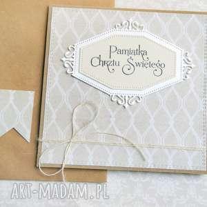ręcznie robione kartki pamiątka chrztu świętego:: kartka handmade