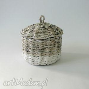 kosze koszyk gray and white, kosz, handmade, przechowywanie dom, pod choinkę prezent