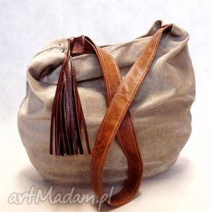 hobo- pojemna torba na ramię - hobo, torba, pojemna