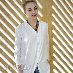 Koszula Długa // Lunga Bianco, koszula, uniwersalna, biała, elegancka, wiskoza, długa