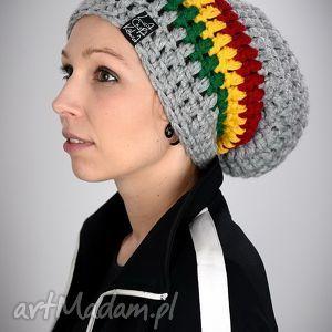 ręcznie robione czapki dreadlove rasta