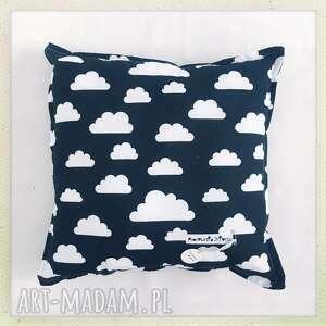 poduszka standard chmury - czarna, biała, chmura